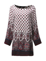 Designer Tribal Baroque Print Dress-MegaStoreCentral