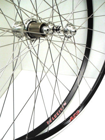 Clancy's XLR8 Hubs on Velocity A23 – Road Tubeless Ready