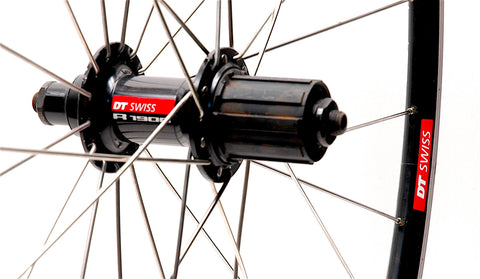 DT Swiss R1900 wheelset rebuild by XLR8 Performance Bicycle Wheels Rear