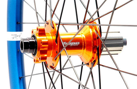 Hope Pro4 hubs and Spank Spoon rims by XLR8 Performance Bicycle Wheels Rear Hub