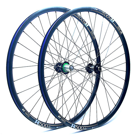 XLR8 Performance Bicycle Wheels Hope RS4 Centrelock on DT Swiss R500 Angled