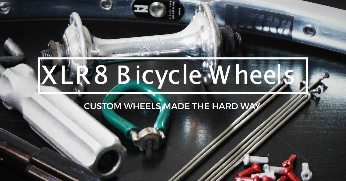 Pic of XLR8 wheels custom hand made bicycle wheels, where we take the time to build you the best alloy or carbon bicycle wheels we can.