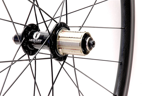 XLR8 Perfromance Bicycle Wheels Mercury Carbon Wheel Repair Rear Wheel Rebuilt with New Spokes