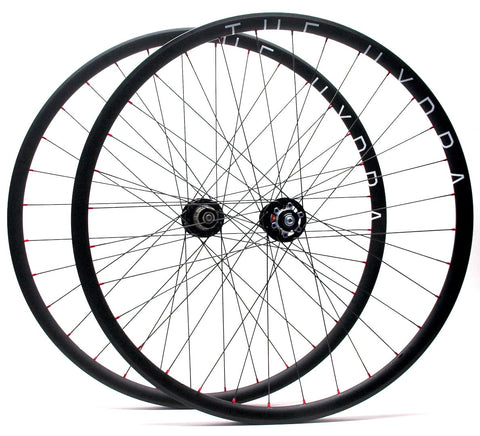 Hplusson THE HYDRA gravel disc road rims on Novatec MTB hubs by XLR8 Performance Bicycle Wheels Profile