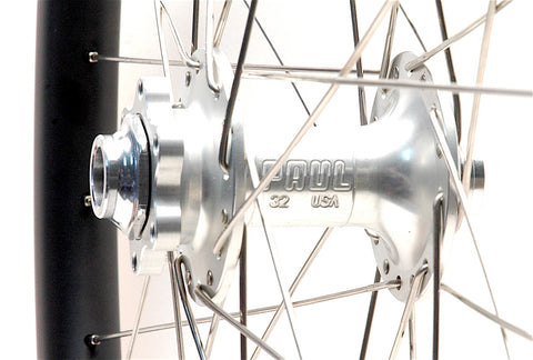 Paul Components on Nextie XC Carbon rims front hub by XLR8 Perfromance Bicycle Wheels