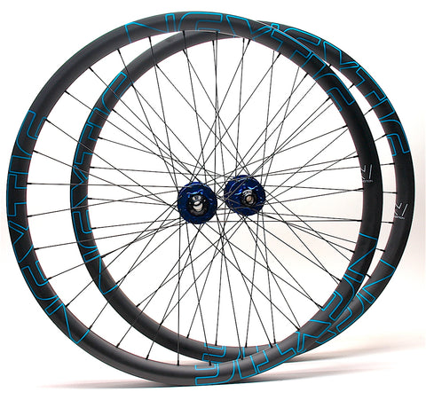 Project 321 Blue hubs on Nextie Premium carbon rims built by XLR8 Performance Bicycle Wheels Profile
