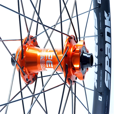 XLR8 Performance Bicycle Wheels Project 321 SuperBoost Orange on Spank 350 Front
