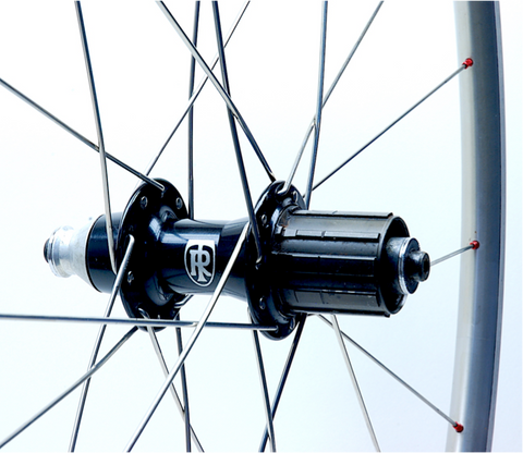 Ritchey Zero on Shimano WH-6600 rim rear rebuilt by XLR8 Performance Bicycle Wheels