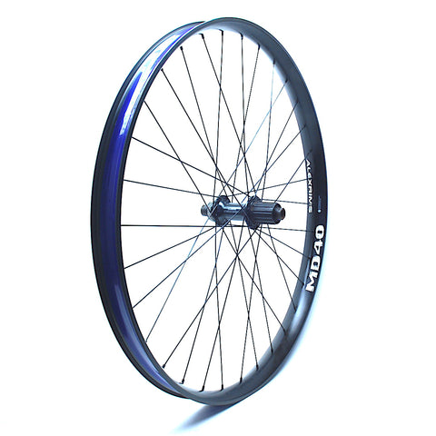 XLR8 Performance Bicycle Wheels Shimano Deore Centrelock on Alexrims MD40 Angled