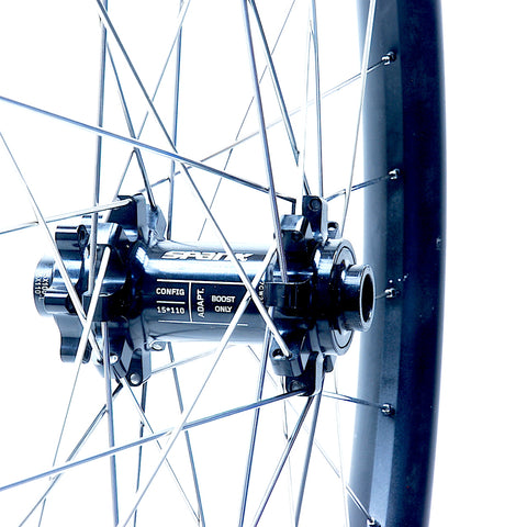 Spank Oozy Trail 395 Wheelset Rebuild Front by XLR8 Performance Bicycle Wheels