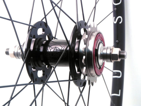 White Industries Black Track hub on Hplusson Archetype