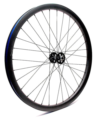 White Industries XMR Boost hub on Nextie Carbon 29er rim by XLR8 Performance Bicycle Wheels Angled