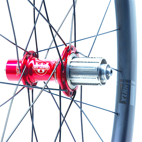 White industries T11 Red on Tailwind 4550 Rear by XLR8 Performance Bicycle Wheels