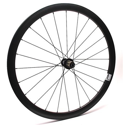 XLR8 MD Campagnolo Hub on Carbonal rim XLR8 Performance Bicycle Wheels side