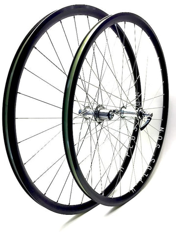 Image of XLR8 Performance Bicycle Wheels Hplusson Archetype on Shimano XTR front and White Industries T11 rear hub