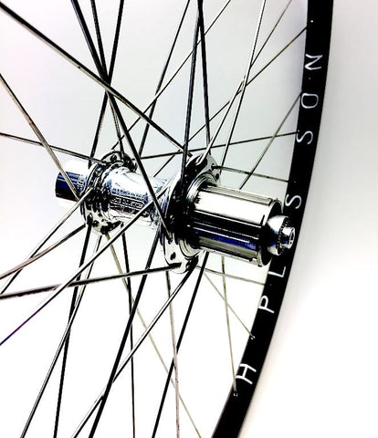 Image of XLR8 Performance Bicycle Wheels Hplusson Archetype on Shimano XTR front and White Industries T11 rear hub.