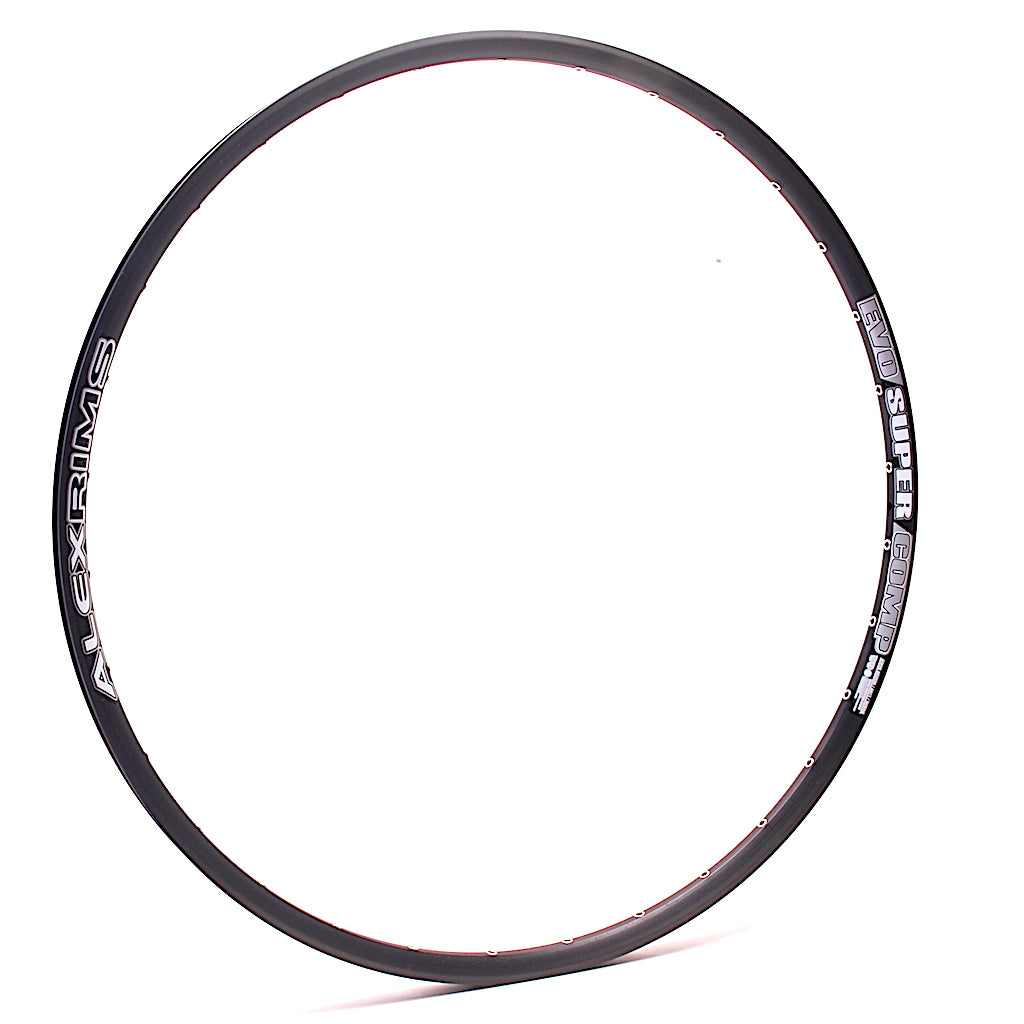 "AlexRims EVO SuperComp 29"" 32h Black Tubeless MTB XC Trail Rim by XLR8 Performance Bicycle Wheels"