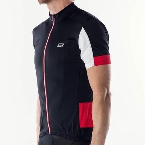Bellwether DISTANCE Mens Cycling Jersey Black Ferrari Red Large %50 OFF!