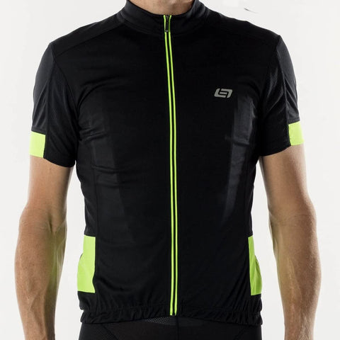 Bellwether DISTANCE Mens Cycling Jersey Black HiVis Large %50 OFF!