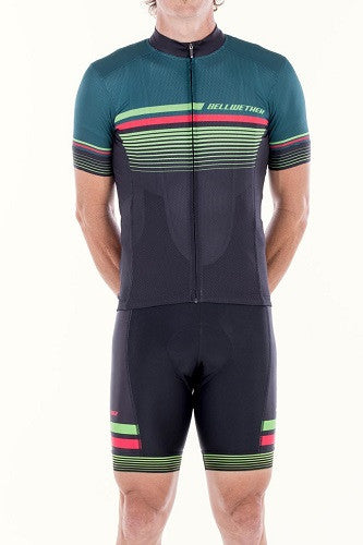 Bellwether TACTIC Premium Cycling Jersey Black Forest Large %50 OFF!