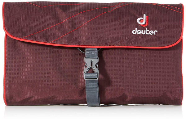 Deuter Wash Bag II Travel Aubergine Fire Toiletry Packing Travel Hiking
