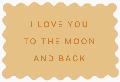 biscuits personnalisés déclaration amour originale I love you to the moon and back