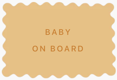Biscuit personnalisé annonce grosse originale baby on board
