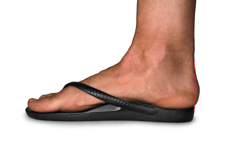 Archies Flip Flops - side view with acceptable overhang