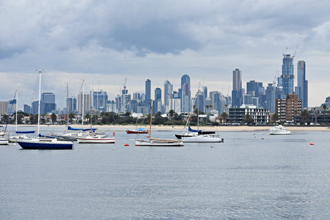 View of Melbourne from St. Kilda