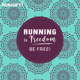 "Poster ""Running is Freedom. Be Free!"""