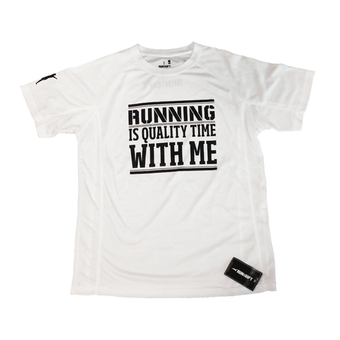 "T-Shirt ""Running is quality time with me"""