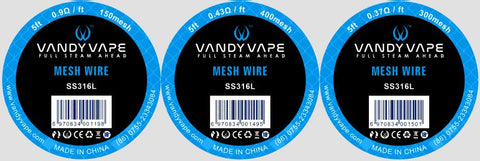 Vandyvape Mesh Wire SS316L 5ft