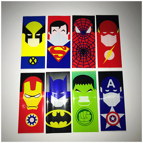 18560 BATTERY WRAPS- SUPER HERO PACK -8 Pack