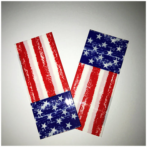 18560 BATTERY WRAPS- STARS AND STRIPES -2 Pack