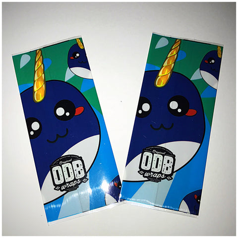 18560 BATTERY WRAPS- UNICORN WHALE -ODB STYLE  -2 Pack