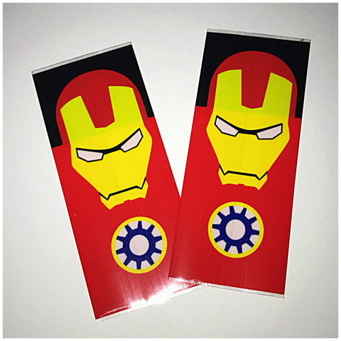 18560 BATTERY WRAPS- IRON MAN -2 Pack