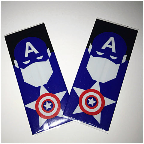18560 BATTERY WRAPS- CAPTAIN AMERICA -2 Pack