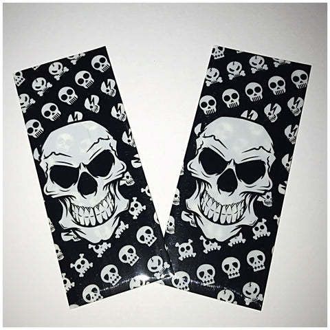 18560 BATTERY WRAPS- SKULL -2 Pack