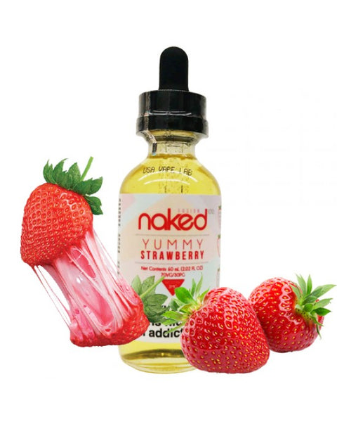Naked 100 Fusion E-Liquid Yummy Strawberry 60ml