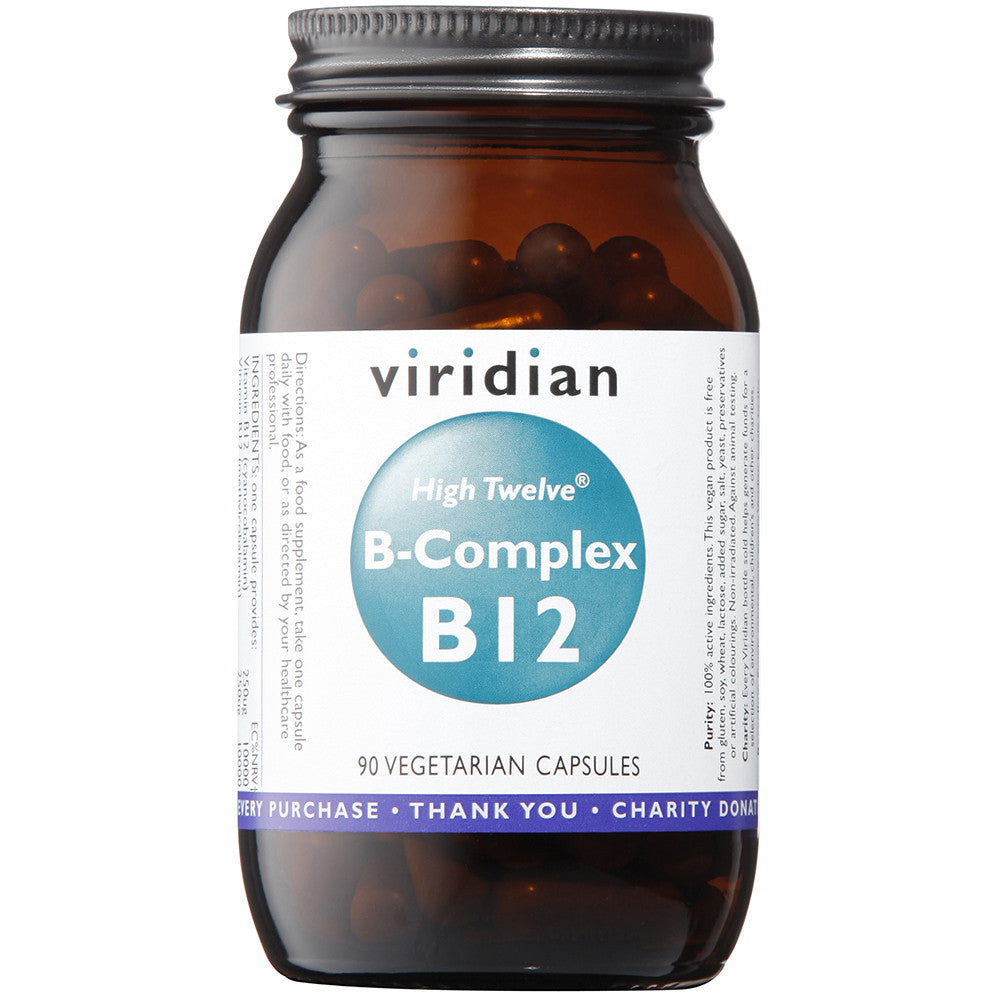 HIGH TWELVE™ Vitamin B12 with B-Complex Veg Caps