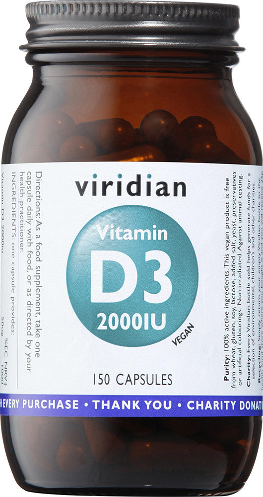 Vitamin D3 (Vegan) 2000iu Veg Caps