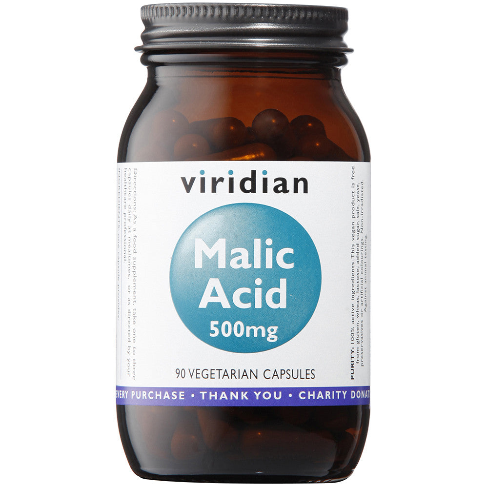 Malic Acid 500mg Veg Caps