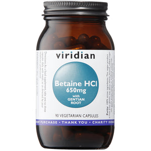 Betaine HCl 650mg with Gentian Veg Caps