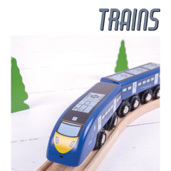Check our our awesome range of BigJigs Trains