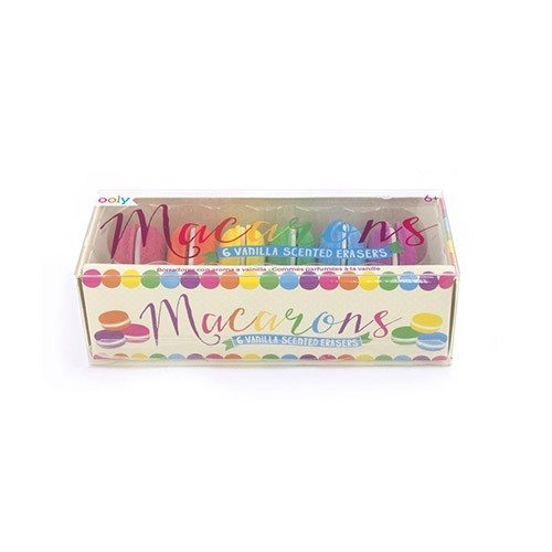 Macarons Scented Erasers - set of 6