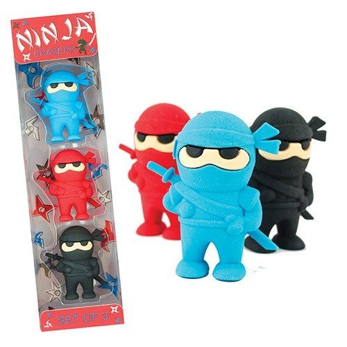 Ninja Erasers - set of 3