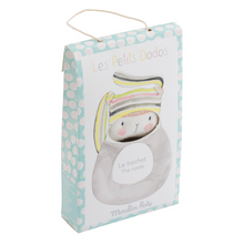 Les Petits Dodos - Striped Rabbit Ring Rattle packaging