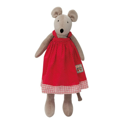 Little Nini, the mouse (30cm), part of La Grande Famille range by Moulin Roty is beautifully made, extremely sweet and very soft and cuddly.