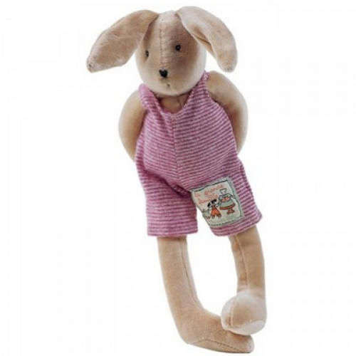 Sylvain, in the range Les petits frères of la Grande Famille is a soft and cuddly rabbit, ready to go to bed in its soft outfit. Height: 30cm.