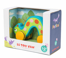 Le Toy Van's Petilou Speedy Caterpillar on Wheels packaging